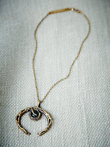 Agate Crescent Necklace