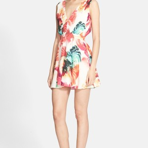 Cayden Flared Stretch Silk Dress