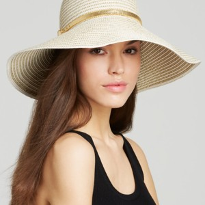 August Accessories Fine Shine Floppy Hat