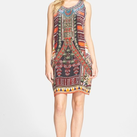 Camilla Embellished Racerback Silk Crepe Dress