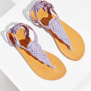 Ecote Aurora Braided T-Strap Sandal