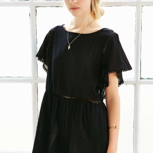 Ecote Circle Trimmed Frock Romper