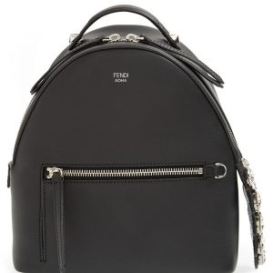 Fendi Mini Croc-Tail Leather Backpack