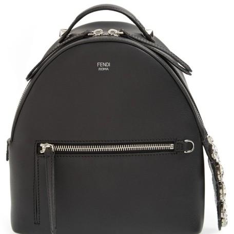 Fendi Mini Croc-Tail Leather Backpack