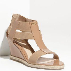Fendi Carioca Wedge Sandal