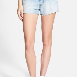 Levi's® '501®' High Waist Cutoff Denim Shorts (Light)