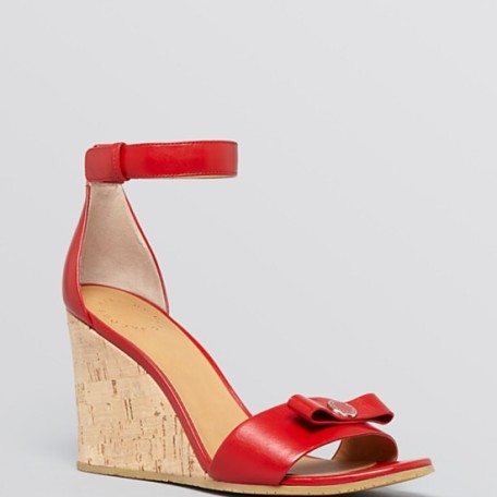 MARC BY MARC JACOBS Open Toe Wedge Sandals – Logo Disc Bow