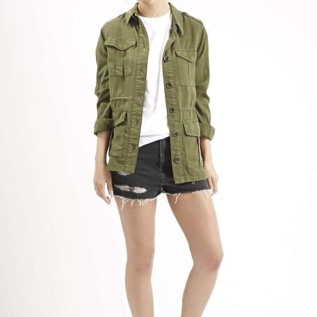 Multi-Pocket Tencel Jacket