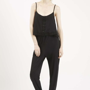 Overlay Lace Trimp Jumpsuit