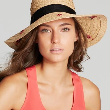 kate spade new york Ladies First Straw Sun Hat