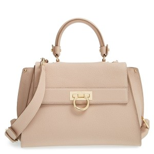 Salvatore Ferragamo Medium Sofia Leather Satchel