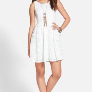 Lush Lace Skater Dress