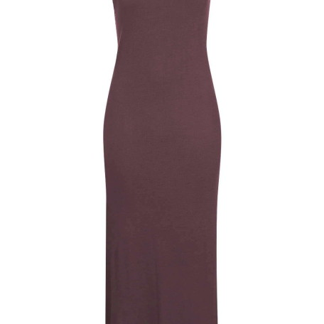Square Neck Ribbed Maxi Dress