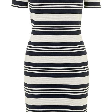 Striped Bardot Bodycon Dress