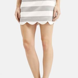 Topshop Scallop Hem Miniskirt