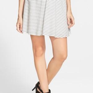 Wayf Seersucker Skirt