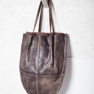 Crescent Leather Tote