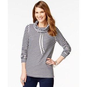 American Living Cowl-Neck Striped Pullover Top