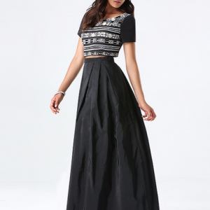 Bebe Embellished 2-Piece Gown