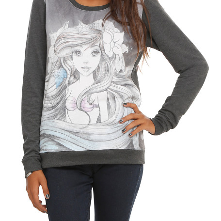 Disney The Little Mermaid Ariel Sketch Pullover Top