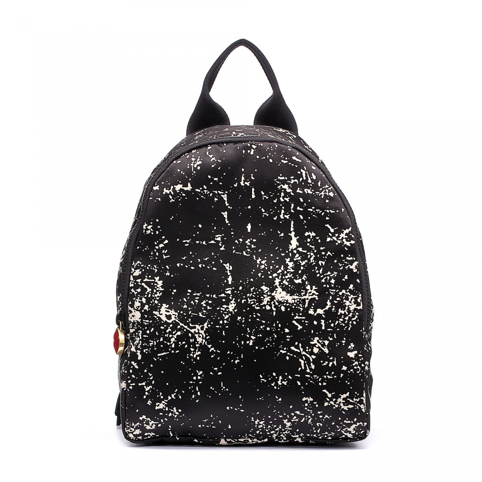 Lulu Giunness Floor Print Satin Backpack Nouveaute Boutique