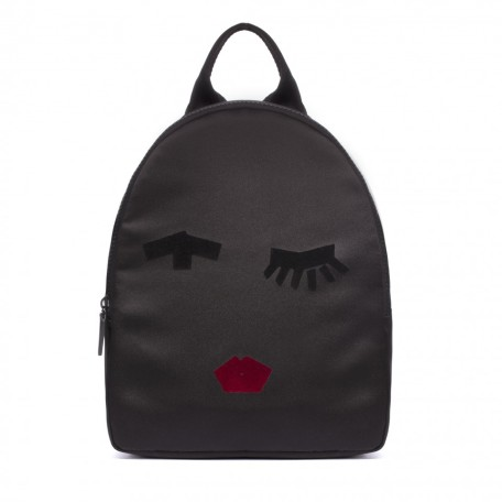 Lulu Guinness Tape Face Satin Backpack