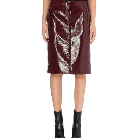 Rag & Bone Vail high-gloss wool-blend skirt
