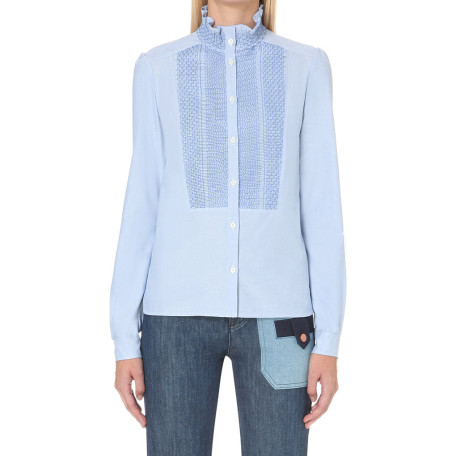 See By Chole Ruffled-collar cotton shirt