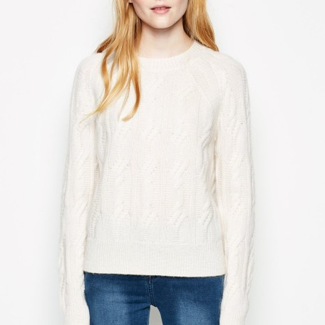 Whithinghall Cable Crew Neck Jumper