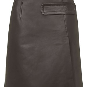Inverness Leather Skirt by Unique