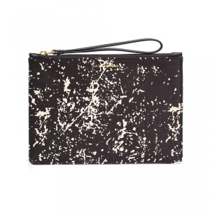 Lulu Guinness Floor Print Satin Medium Grace Pouch