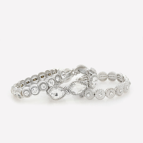 Bebe Glitzy Stretch Bracelet