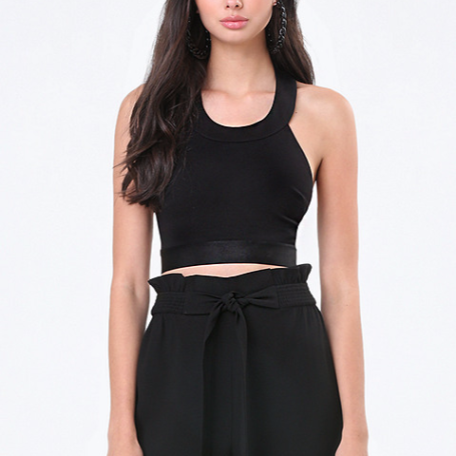 Bebe Halter Crop Top