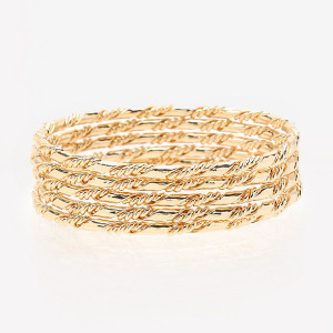Bebe Twist Wrap Bangle Set