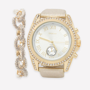 Bebe Watch and Bracelet Set