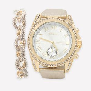 Bebe Watch and Bracelet Set