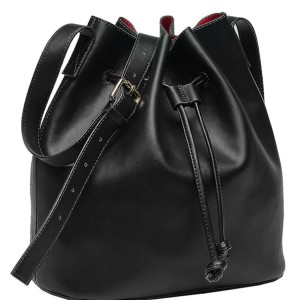 Beth Friedman Vegan Leather Bucket Bag