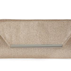 Glint Metallic Envelope Clutch