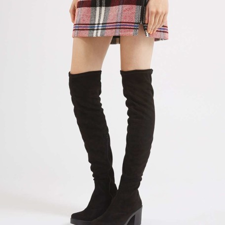 Topshop Cocktail High Leg Heeled Boots