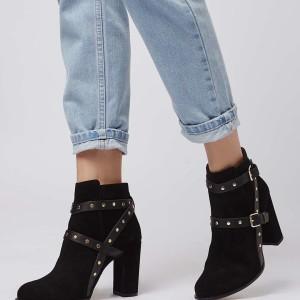 Topshop Harriett Stud Strap Boots