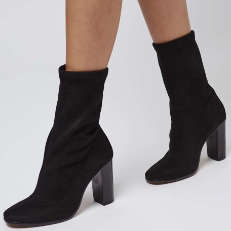 Topshop Hex Sock-Fit Ankle Boots