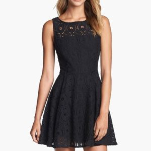 'Renley' Lace Fit & Flare Dress