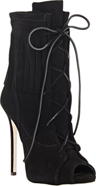 Giuseppe Zanotti Fringe Lace-Up Ankle Boots