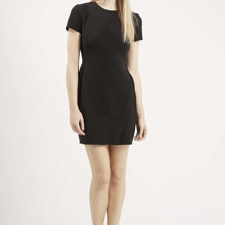 Asymmetric Wrap Shift Dress