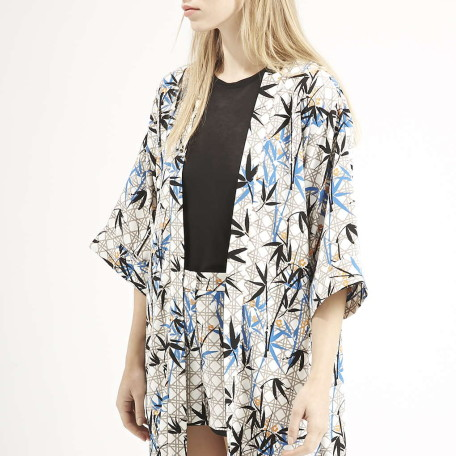 Bamboo Print Duster