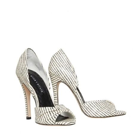 Gigi Pintstripe Leather Heel