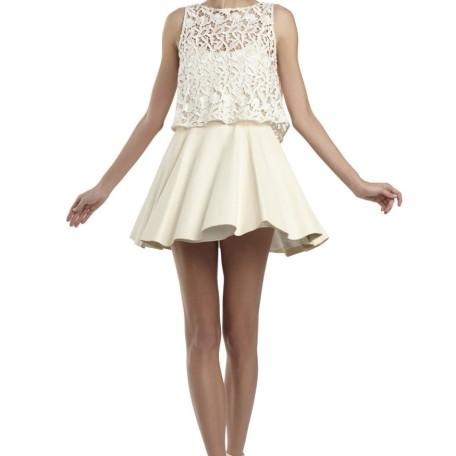 Julie Leather Flare Dress