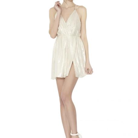 Livvy Draped Slit Dress