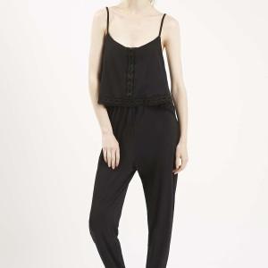 Overlay Lace Trimp Jumpsuit