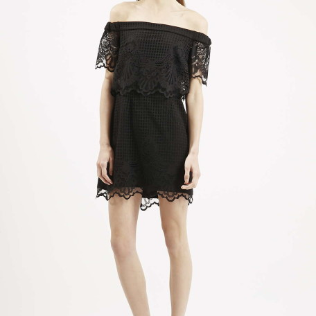 PETITE Bardot Lace Dress